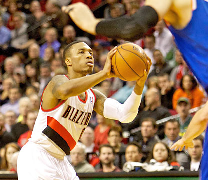 Damian Lillard finishes with 23 points on 9-of-20 shooting from the field, and also provides six assists in the W. (USATSI)