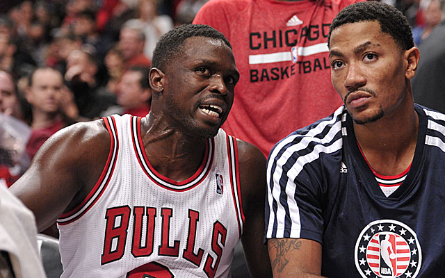 With Derrick Rose injured again, perhaps the Bulls are less inclined to try and keep Luol Deng. (USATSI)