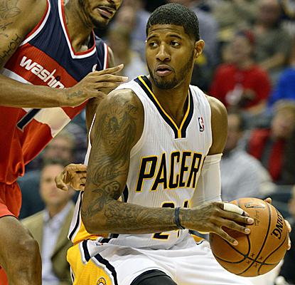 Paul George scores 23 points and the Pacers just keep on winning, improving their record to 15-1.  (USATSI)