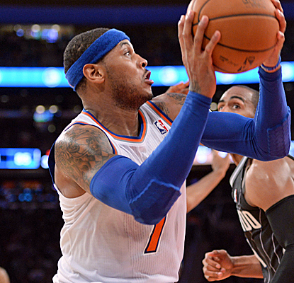 Carmelo Anthony posts a double-double, and the Knicks follow their blowout win over the Nets by rolling the Magic.  (USATSI)