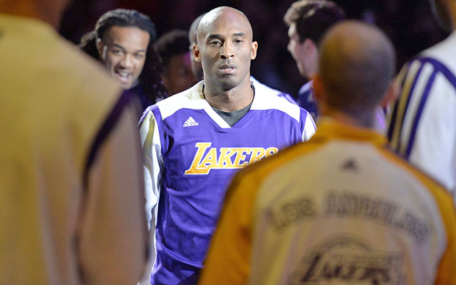 After getting his feet wet at home, Kobe Bryant faces a four-game road trip in five nights. (USATSI)