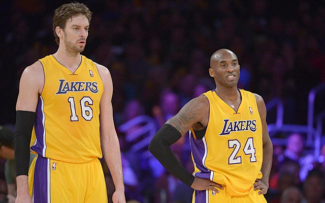 Kobe Bryant can't like what he's seeing from his Lakers teammates right now.