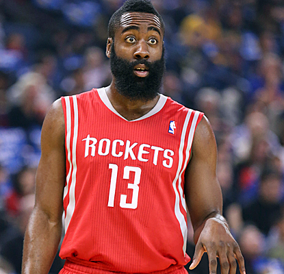 James Harden makes big plays down the stretch, scoring 26 points to help the Rockets to a big win.  (USATSI)
