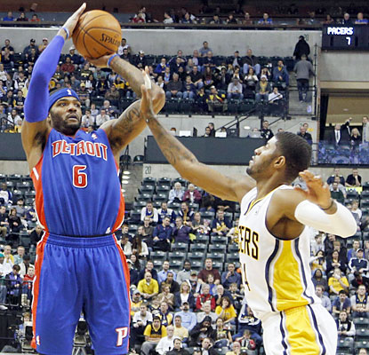 Josh Smith (30 points) and the Pistons go into Indiana and stun the Pacers, ending a six-game skid in the series. (USATSI)