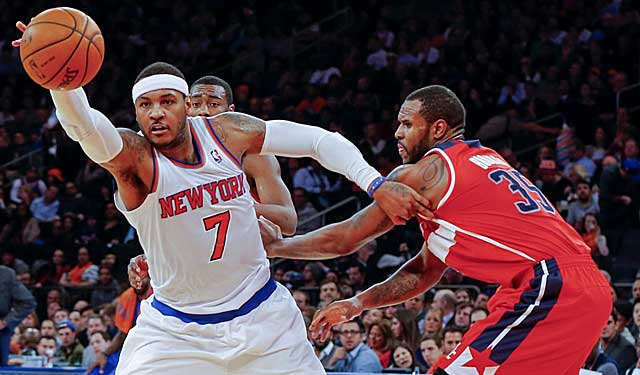 Once again, Carmelo Anthony and the Knicks fail to grasp basic tenets of the game. (USATSI)