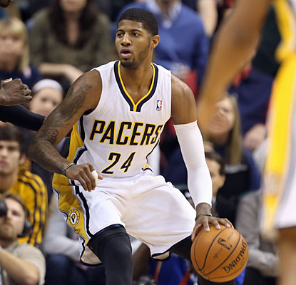 Paul George leads all scores with 24 points as the Pacers maintain their hold atop the Eastern Conference. (USATSI)