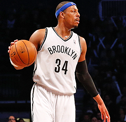 Paul Pierce passes Allen Iverson into 19th place on the all-time scoring list, and the Nets win their 2nd straight.  (USATSI)