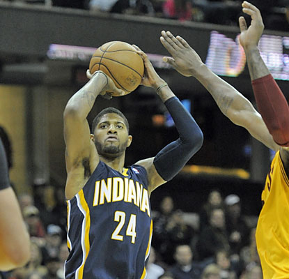 Paul George puts up balanced numbers with 16 points, six assists and five rebounds in the win over Cleveland. (USATSI)