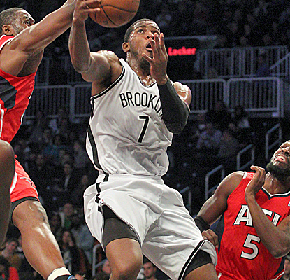 Joe Johnson steps up against his former team, scoring 23 points as the Nets pick up their third straight win.  (USATSI)