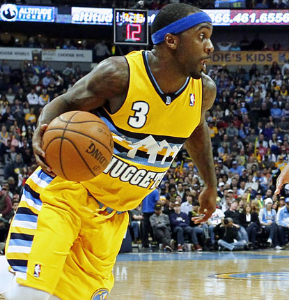 Ty Lawson records a double-double for Denver, posting 16 points and 14 assists in support of Randy Foye's big night.  (USATSI)