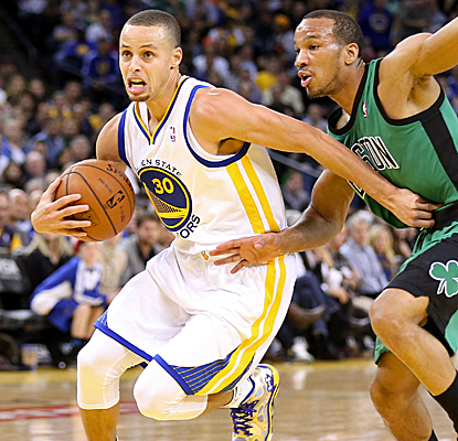 Avery Bradley makes Stephen Curry work for all of his 19 points, but Curry pulls it out in the end.  (USATSI)