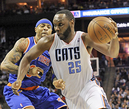 Al Jefferson racks up a season-high 35 points as the Bobcats cool off the surging Knicks. (USATSI)