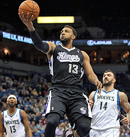 Kings forward Derrick Williams goes in for two of his 16 points against the Timberwolves. (USATSI)