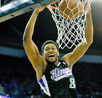 The Kings' Rudy Gay matches a career high with 41 points on 16-of-25 shooting from the field. (USATSI)