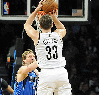 Mirza Teletovic makes the most of his opportunity, scoring a career-high 34 points in another Nets win.  (USATSI)