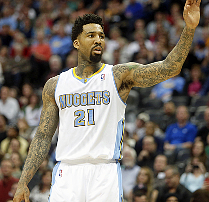 Wilson Chandler scores a season-high 25 points, and the Nuggets wear down the road-weary Pacers.  (USATSI)