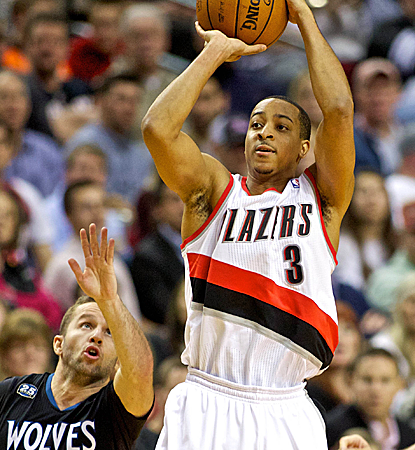 Blazers rookie C.J. McCollum raises up for a jumper during Portland's home win over the Timberwolves.  (USATSI)