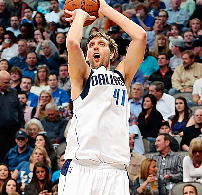 Dirk Nowitzki, recently named an All-Star, pours in 34 points to help lift the Mavs past the Kings. (USATSI)