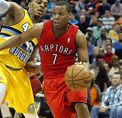 Kyle Lowry and the Raptors go up by as many as 25 points, and the Raptors end a decade-long skid in Denver.  (USATSI)