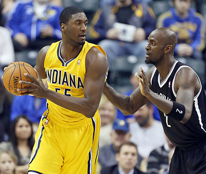 Roy Hibbert ties a team high with 20 points on 7-of-13 shooting from the field, including 6 for 6 from the charity stripe. (USATSI)