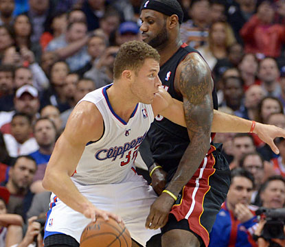 LeBron and the Heat withstand Blake Griffin's 43 points to win their first game on the road vs. the Clips since Dec. 9, 2007. (USATSI)
