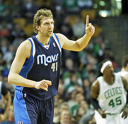Dirk Nowitzki scores a game-high 20 points to help Dallas notch a season-best fifth straight win. (USATSI)