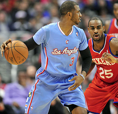 Sidelined since January 3rd with a separated shoulder, Chris Paul posts eight assists in his return.  (USATSI)