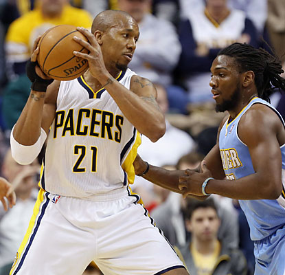 David West puts up 25 points as the Pacers dismantle the Nuggets to extend their lead atop the Eastern Conference standings. (USATSI)