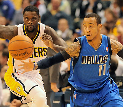 Monta Ellis and the visiting Mavericks stifle the Pacers, who score a season-low 73 points. (USATSI)