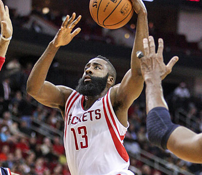 James Harden provides 35 points, including the game-winning layup with 0.7 ticks left on the clock. (USATSI)