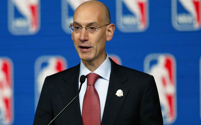 New commissioner Adam Silver addresses the media on the eve of the All-Star Game. (USATSI)