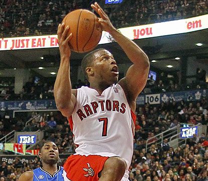 Kyle Lowry continues his strong play. The Raptors' point guard finishes with 28 points and six dimes. (USATSI)