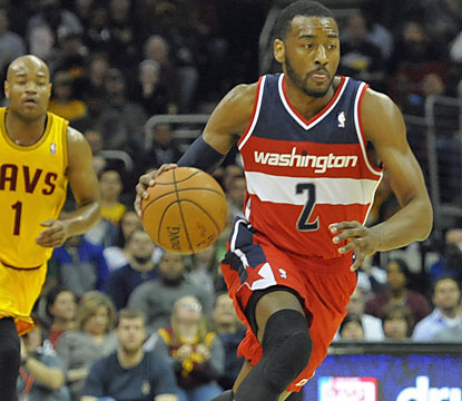 John Wall, who scores a game-high 21 points, helps the Wizards run past the Cavs in the second half. (USATSI)