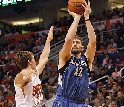 Kevin Love (33 points, 13 boards, nine assists) nearly captures his second triple-double in three games. (USATSI)