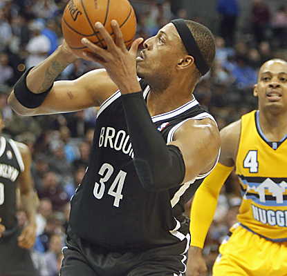 Paul Pierce scores 18 points, and the Nets bounce back from a blowout loss by dominating the Nuggets.  (USATSI)