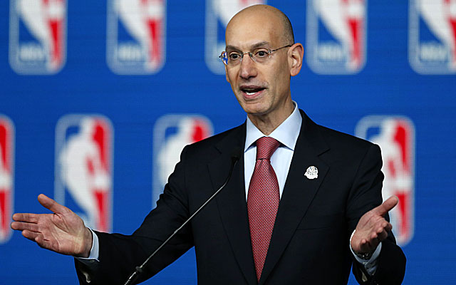 Adam Silver is open to a conversation about college player subsidies.  (USATSI)