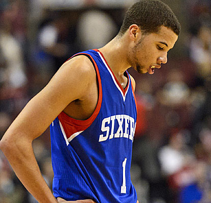 Michael Carter-Williams hopes to see better days with the Sixers, who have now lost 16 straight.  (USATSI)