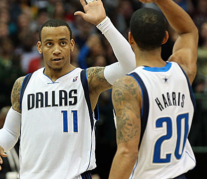 Monta Ellis matches Devin Harris' team-high 20 points as the Mavs send the Pacers to a fourth straight loss.  (USATSI)