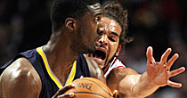 Roy Hibbert and Joakim Noah (Getty Images)