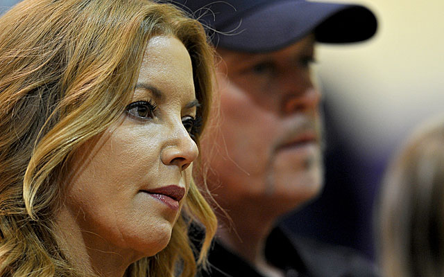 Jeanie and Jim Buss haven't seen eye to eye in Los Angeles. (USATSI)