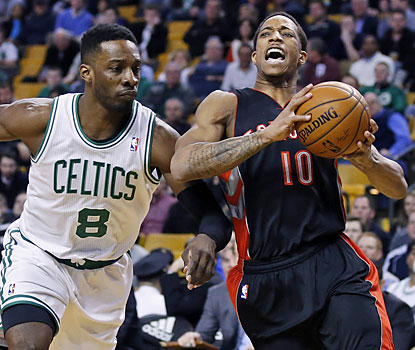 DaMar DeRozan (20 points) is one of three Raptors to finish the game with 20-plus points against Boston. (USATSI)