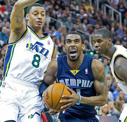 Mike Conley, who scores 19 points, helps Memphis outscore Utah 29-16 in the fourth to complete the comeback. (USATSI)