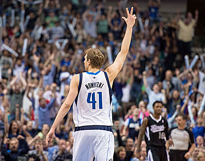 Dirk Nowitzki finishes with 19 for the game as the Mavericks rally past Sacramento in the fourth quarter. (USATSI)