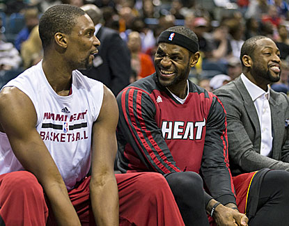 Chris Bosh and LeBron James combine for just 27 points, but it's enough for Miami to beat the last-place Bucks. (USATSI)