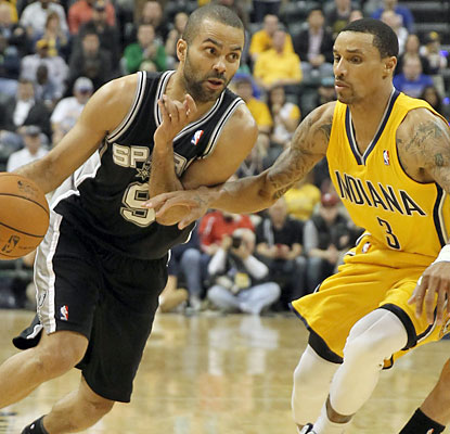 Tony Parker (22 points) and the Spurs are heading in a different direction than the Pacers, who have lost six of seven. (USATSI)