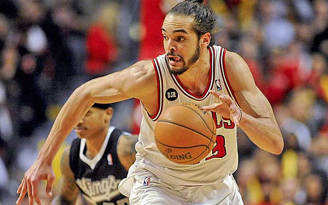 Noah touches the ball 80 times a game -- more than LeBron James, Kevin Durant and Tony Parker.    (USATSI)