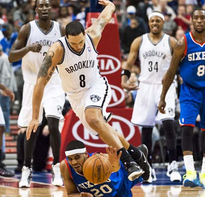 The Nets build a 21-point lead against the 76ers but have to hold on for dear life at the end.  (USATSI)
