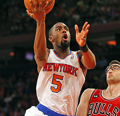 The Knicks are out of the playoffs, but Tim Hardaway Jr. is still going hard with 20 points on Sunday.  (USATSI)