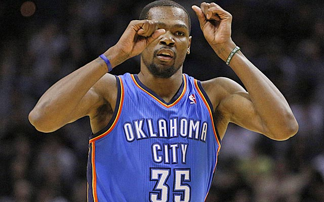 Kevin Durant's brilliance all season long is hard to argue against.   (USATSI)