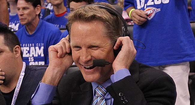 TNT analyst Steve Kerr is intrigued with the Knicks' job, according to league sources. (USATSI)